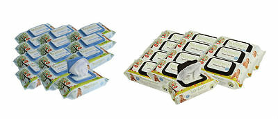 NEW Bambeco Bambure Baby Wipes Natural or Bamboo 12 Packs of  80 Wipes per pack