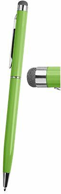 1 Lime Green PRO Stylus with Ball Point Pen ULTRA-SMOOTH Micro-Fibre Tip Tablets