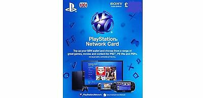 PSN UK Playstation Network Card Key £20 - PS3 - PS4 & PS Vita SAME DAY DISPATCH
