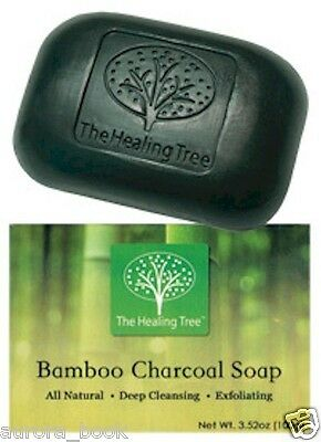 Bamboo Charcoal Soap All Natural Fragrance-Free Hypoallergenic Exfoliate WA52219