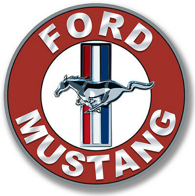 "Ford Mustang 22"" Round Metal Sign"
