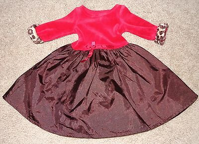 AMERICAN GIRL TODAY ~ 2005 CHOCOLATE CHERRY OUTFIT DRESS ONLY B