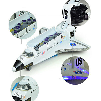 """USA NASA Space Shuttle Discovery COLUMBIA 8"""" with Light & Sound Diecast Model"""