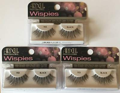 Ardell Glamour Lashes **113** Black X 3 Packs **special Offer**
