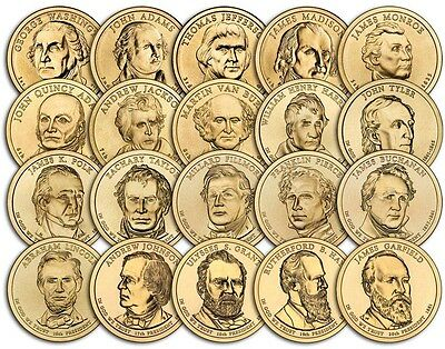 ALL 2007 THRU 2016 PRESIDENTIAL DOLLAR COINS @ 2.69 EACH with FREE SHIPPING