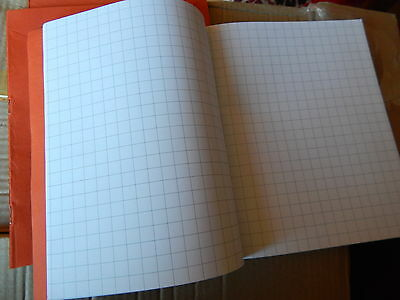 Exercise books! 10mm SQUARED. 80 page! MATHS! School/Office/Work!