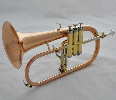 Professional Rose Brass Flugelhorn Cupronickel tuning Bb Flugel horn With Case