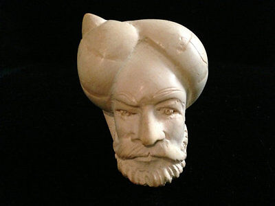 Meerschaum Hand Carved Old Man Sultan Face Pipe