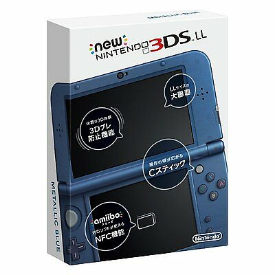 USED New Nintendo 3DS LL Console System Metallic Blue JAPAN import Japanese game