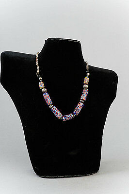 Trade Bead Necklace, Old, Venitian Millifiori & Silver - South Africa