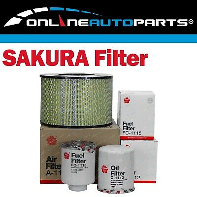 Air Oil Fuel Filter Service Kit Landcruiser 70 75 78 80 Series 1HZ 4.2L Diesel