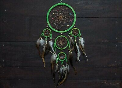 Dream Catcher feather wall hanging decoration bead ornament feathers long 22 ""