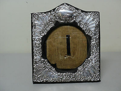 ANTIQUE ENGLISH ART NOUVEAU STERLING SILVER PICTURE FRAME 8.25 x 7.25, c. 1906