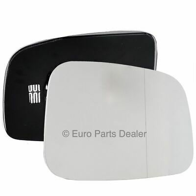 Driver Side WIDE ANGLE HEATED WING MIRROR GLASS VW Transporter T5 03-09 Clip On