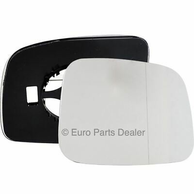 Driver Side WIDE ANGLE WING DOOR MIRROR GLASS VW Transporter T5 2003-09 Clip On