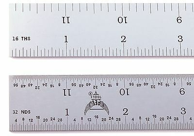 "Blem Cosmetic Second PEC 18"" Rigid Satin 4R machinist ruler 1/8,1/16,1/32,1/64"