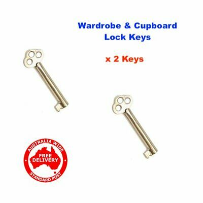 Wardrobe, Cupboard & Desk Lock Key-2 Keys- FREE POST! -09221000