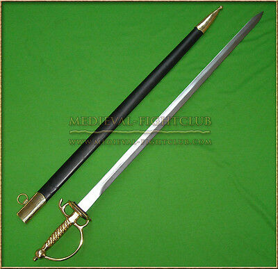 Scottish Officer Small Sword Scabbard Sheath Brass
