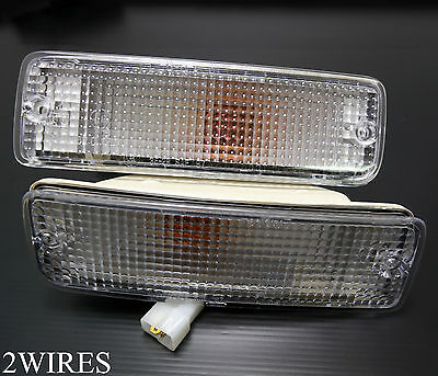 88 - 97 Toyota Hilux Clear Bumper Bar Indicator Turn Signal Light Ln85 Ln106 2W