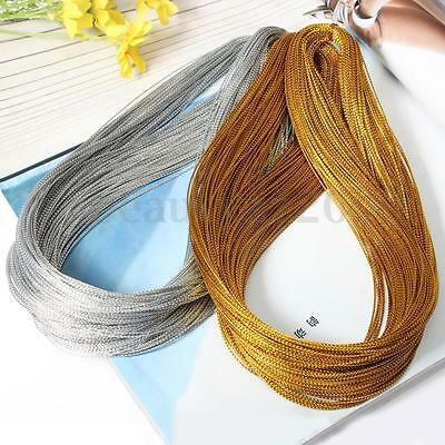 100 Yards 1mm Metallic Thread String Jewelry Craft Cord Making Beading Necklace