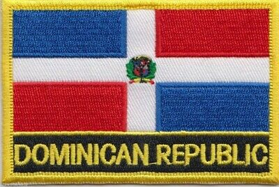 Dominican Republic Flag Embroidered Patch Badge - Sew or Iron on
