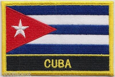 Cuba Flag Embroidered Patch Badge - Sew or Iron on
