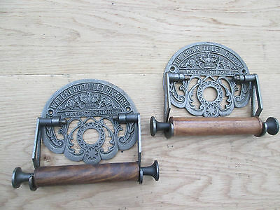 vintage Victorian old Cast Iron bathroom Wc Washroom Loo Toilet  Roll Holder