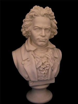 "BEETHOVEN R&L Robinson & Leadbeater Parian Bust Larger 11.5"" size"