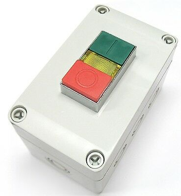 Push Button Machine Switch Start Stop Indicator Light Control Box Weather Proof