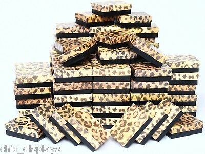 LOT OF 20 Leopard PRINTED COTTON FILLED BOXES JEWELRY GIFT BOXES PIN BOXES 3x2X1