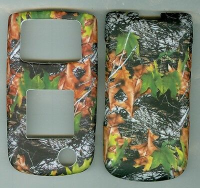 CAMO LEAVES Rubberized hard Case Cover Samsung SGH Rugby II 2 A847 AT&T