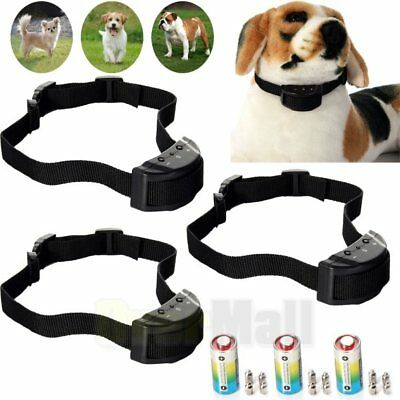 3 X Anti Bark No Barking Tone Shock Control Training Collar for Small Medium Dog