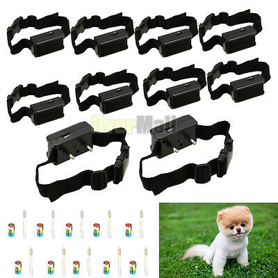 10x Anti Bark No Barking Tone Shock Control Training Collar for Small Medium Dog
