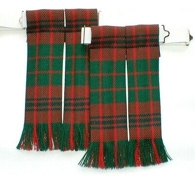 Kilt Sock Hose Flashes Ross Modern Tartan Worsted Wool For Kilt Highlandwear New