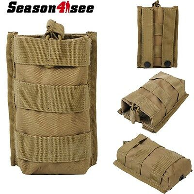 Outdoor Hunting Open Top Molle MPS AEG Single M4 Magazine Pouch Bag Tan