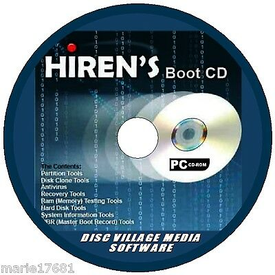 Hirens Boot Utility Pc Cd Format Partition Recover Files Security Firewalls+ New