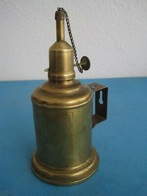Antique petrol lamp, flashlight, torch, in metal made in France