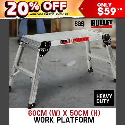 50Cm Bullet Folding Work Platform Aluminium Painting Dry Wall Car Washing