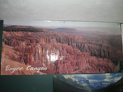 """Bryce Canyon Large Panoramic Poster 60"""" x 26 """"  1980's"""
