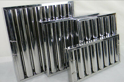 """Baffle Grease Filter Stainless Steel 245hx495wx48mm (10x20x2"""") Canopy Extraction"""
