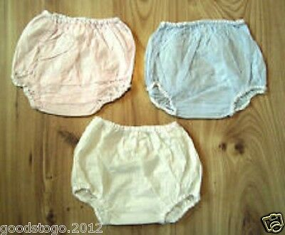 Waterproof Plastic Pants Pack Of 3 Baby/toddler/ Child Terry Nappy Cover Medium