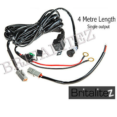 Spot Light Wiring Harness 4M Includes Switch Fuse Relay for LED Work light Bar