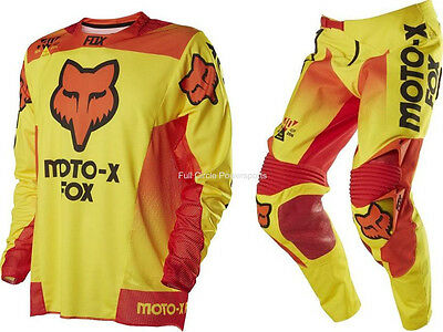 Fox Racing 360 Limited Edition 40 Year Pant Jersey Combo Yellow Men's Motocross