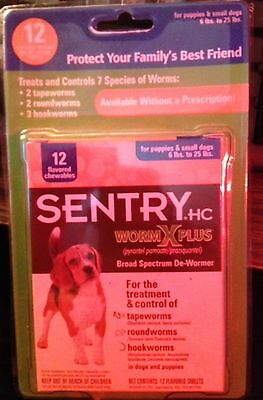 Sentry HC Worm X Plus 12 chewable treatment for Puppies & Small Dogs 6 - 25 Lbs.