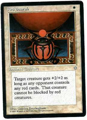 Red Scarab carte Magic usate (English used card) Ice Age EXC-VG