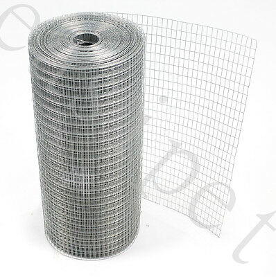 """Welded Wire Mesh 1"""" x 1/2"""" x 30m 3 widths Aviary Hutches Fencing Pet Run Coop"""