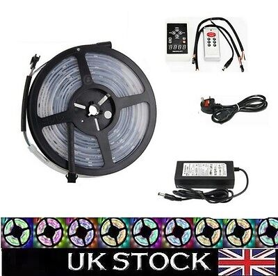 Dream Color 6803 IC Chip 5050 RGB LED Strip 133 Effects RF Controller + UK Power