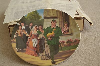 """""""The Golden Goose"""", Charles Gehm, Grimms Fairy Tales Plate, 1984, Lot #138"""