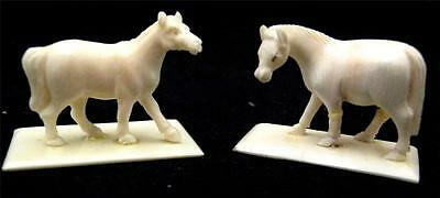 Miniature Chinese Japanese Carved Horses