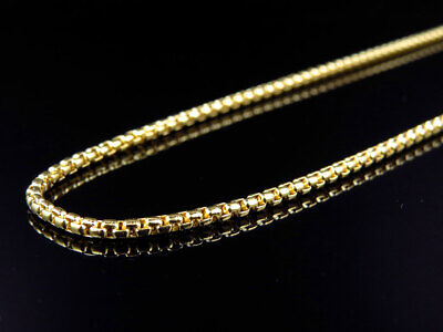 """New Solid 10k Yellow Gold Rounded Rolo Style Chain Necklace (2.0mm) 22-36"""""""